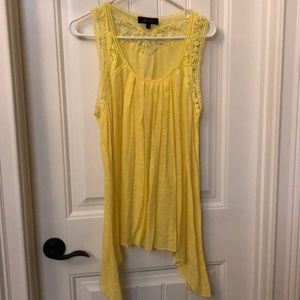 Melissa Paige Embroidered Yellow Top